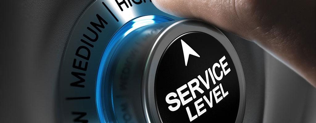 Abbildung zeigt einen Drehknopf, mit dem die Service-Qualität eingestellt werden kann