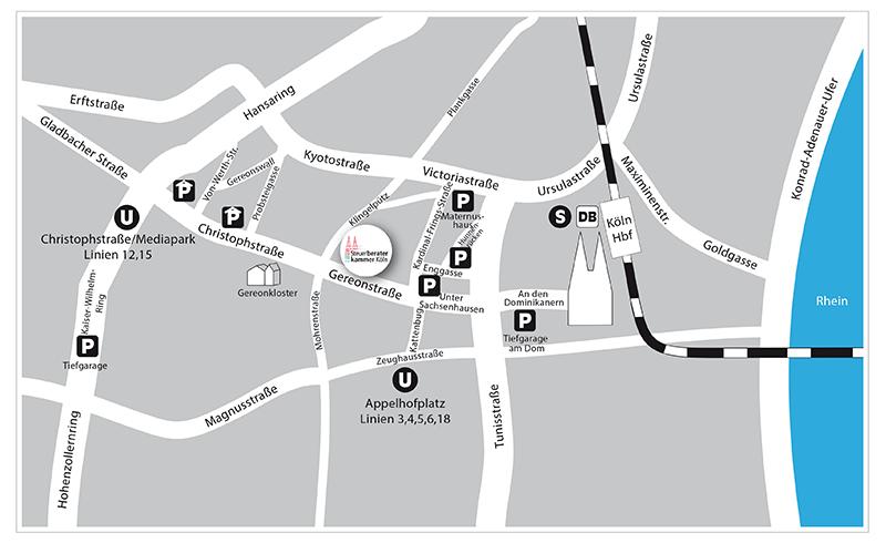 Anfahrt - Steuerberaterkammer Köln Körperschaft des öffentlichen Rechts Gereonstraße 34-36 50670 Köln