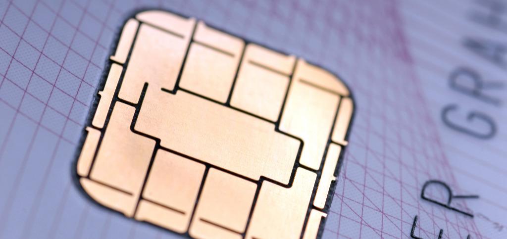 Abbildung zeigt den Chip einer Chipkarte
