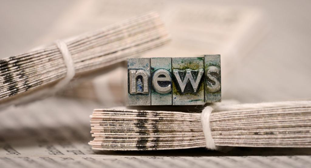 Abbildung eines Druckerstempels mit dem Wort News